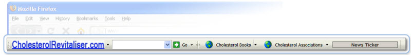 Click to view Lowering Cholesterol Firefox Toolbar 1.0 screenshot